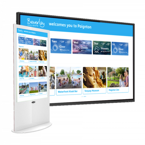 Holiday maker for digital signage and large format displays