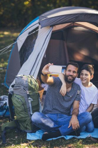 Sharing a camping experience
